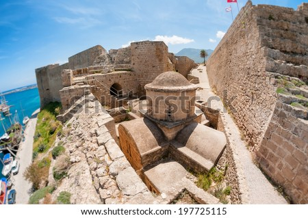 Byzantine church of St George inside Kyrenia castle. Cyprus - stock photo