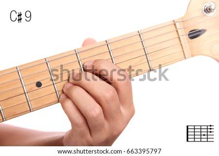 C 9 Advanced Guitar Keys Series Closeup Stock Photo Royalty Free