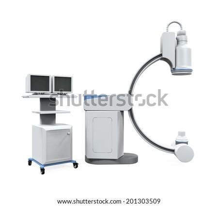 C Arm X-Ray Machine Scanner - stock photo