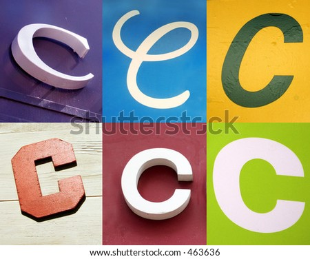 C letter - the Urban collection - stock photo