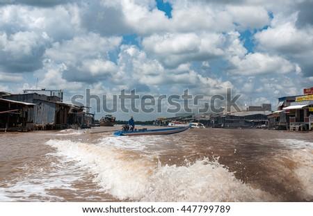 CA MAU, VIET NAM, July 2, 2016 rivers, seas Ca Mau, Vietnam