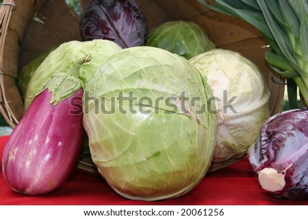 Cabbage and eggplant