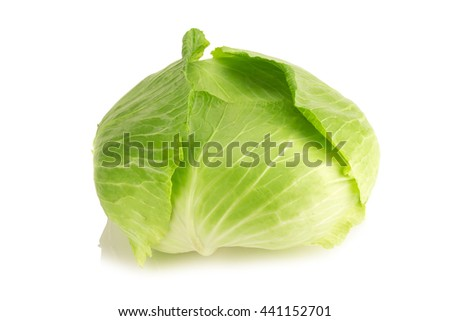 cabbage isolated on white background.
