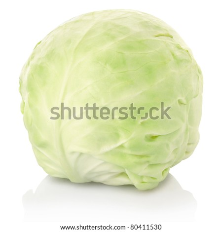 Cabbage isolated on white, clipping path included
