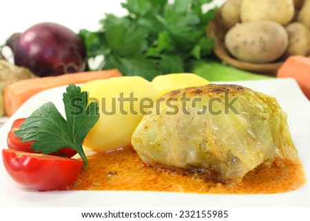 cabbage rolls - stock photo