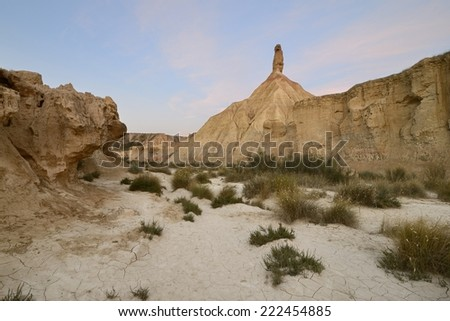 Cabezo Castildetierra, Bardenas Reales, Spain - stock photo