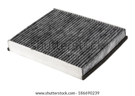 Cabin air filter carbon, normally used in cars for the purification of air supplied to the passenger compartment - stock photo