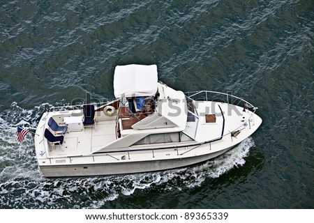 Cabin cruiser - stock photo