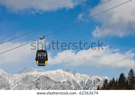 Cabin of ski lift