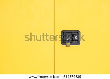 cabinet lockers - stock photo