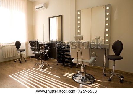 Cabinet make-up artist and hairdresser. Modern design. - stock photo