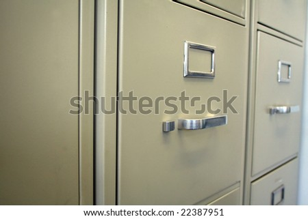 Cabinets lined up - stock photo