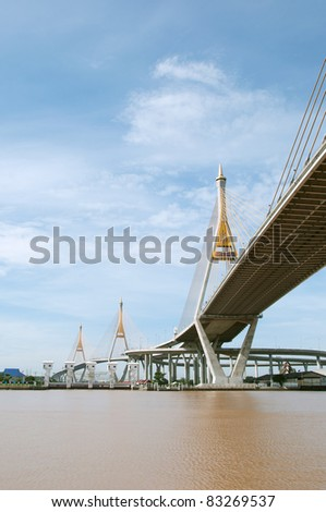 Cable Bridge at Bangkok, Thailand.
