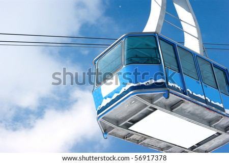 Cable car in Films Switzerland - stock photo