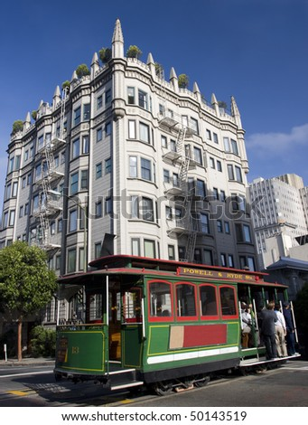 Cable Car in san Francisco - stock photo