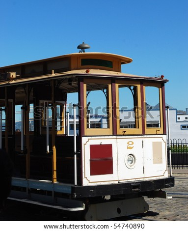 Cable Car in San Francisco. - stock photo