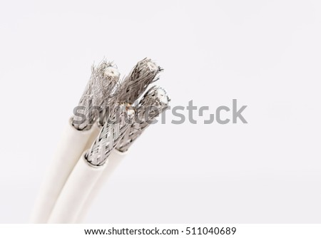 Cable For digital TV, Cable TV,Data Cable on white