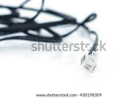 cable Internet access on white background - stock photo