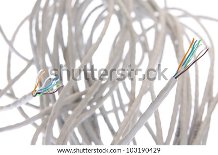 Cable isolated on white background