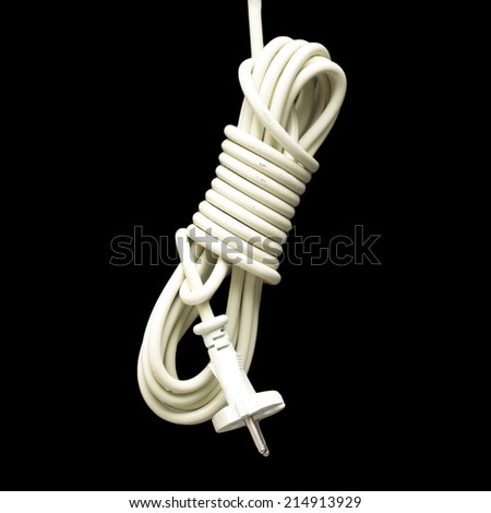 Cable on black background - stock photo