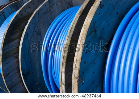 Cable spool - stock photo