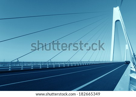 Cable-stayed bridge - stock photo