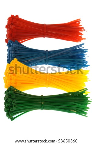 cable ties isolated against white background