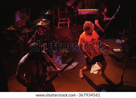 CABO SAN LUCAS		OCTOBER 98:		Vocalist/Guitarist Sammy Hagar performs Circa October 1998 at the Cabo Wabo Cantina in Cabo San Lucas, Mexico.
