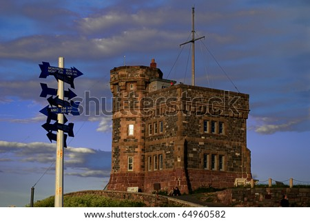 Cabot Tower in St John's Newfoundland - stock photo