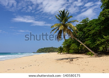 Cabrera is considered one of the most beautiful places in the Dominican Republic. - stock photo