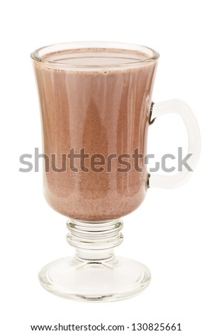 cacao drink on white background - stock photo