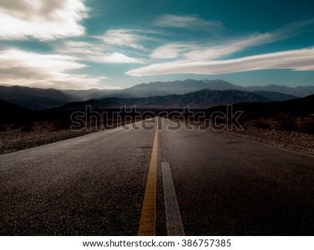 Cachi, Argentina: Desert highway in Argentina - stock photo