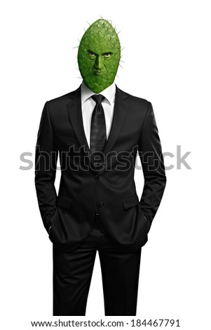 Cactus head boss - stock photo