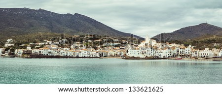 Cadaques, nice small traditional village in Costa Brava. - stock photo