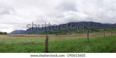 Cade's Cove in Great Smoky Mountains National Park - stock photo