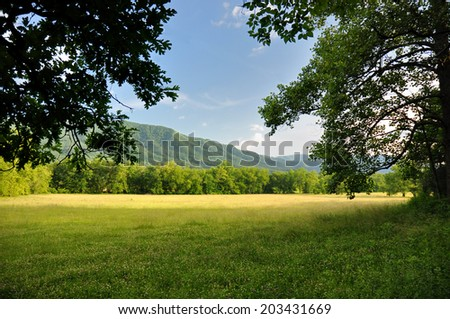 Cades Cove in Great Smoky Mountains National Park, TN USA - stock photo