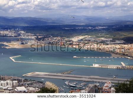 Cadiz bay - stock photo
