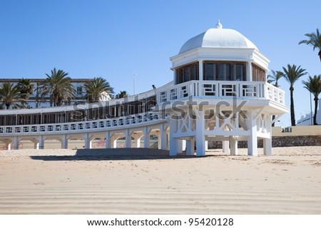 Cadiz beach, Andalusia. - stock photo