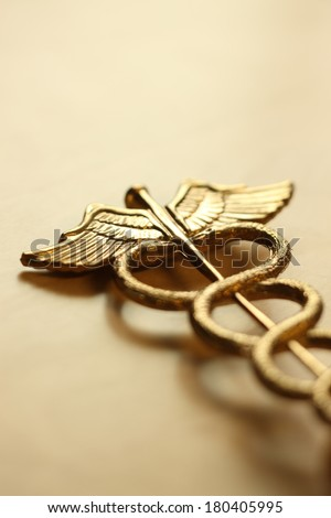 Caduceus, medical symbol - stock photo