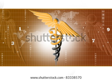 caduceus medical symbol - stock photo