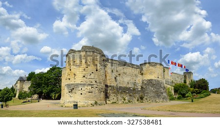 Caen Castle - 1060, William of Normandy established a new stronghold in Caen. Norman town of Caen in the Calvados departement in Normandy, France