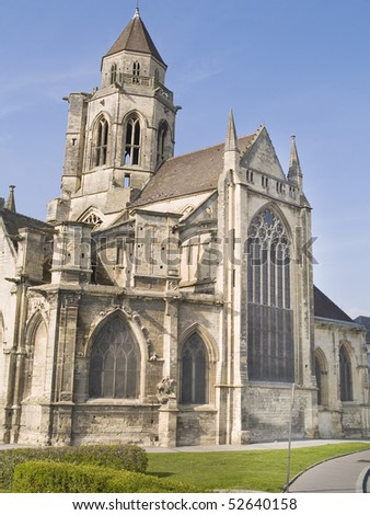 Caen, city destroyed in World War II, Normandy, France. - stock photo