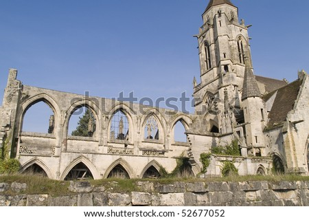 Caen, city of Normandy, it was destroyed World War II, France - stock photo
