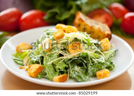 Caesar Salad 2 - stock photo