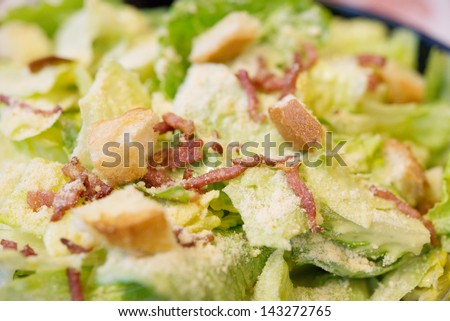 Caesar salad dish - stock photo