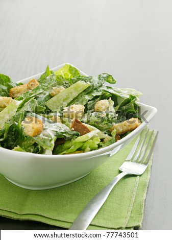 Caesar salad with copyspace
