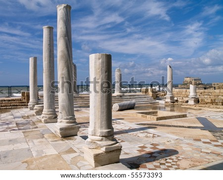 Caesarea, photo was taken in Israel - stock photo