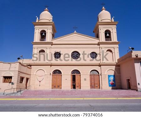 Cafayate Cathedral, Salta, Argentina - stock photo