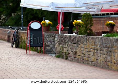 Cafe at an old town wall