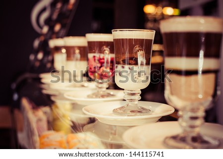 Cafe Coffee Latte in a glass - stock photo